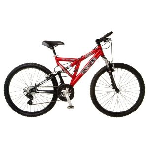 Mongoose Domain Men's Dual-Suspension Mountain Bike